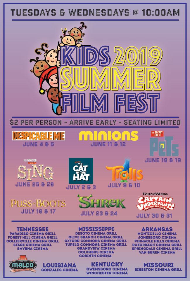 Malco Theatres - kidfest2018